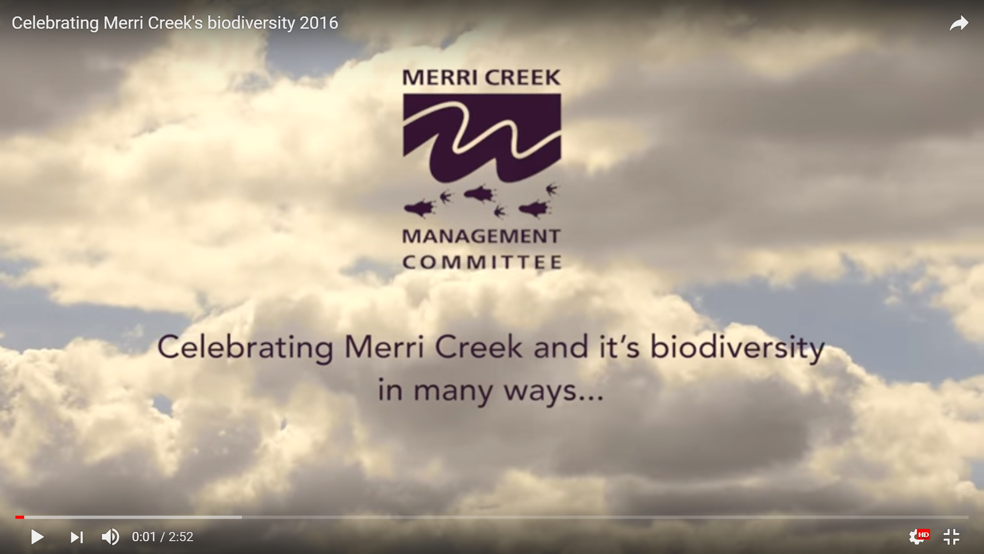 Celebrating Merri Creeks Biodiversity
