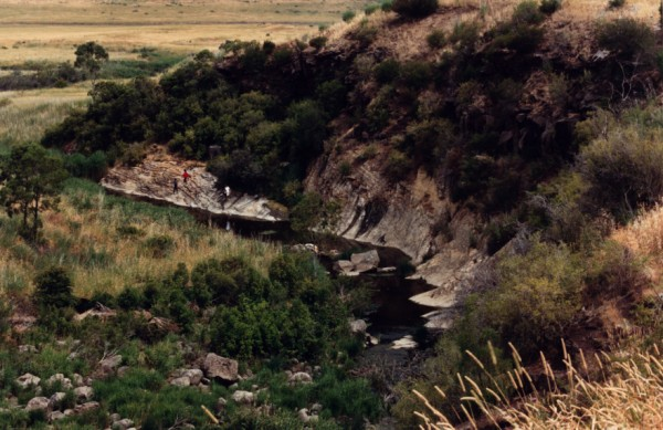 Photo of Barry Road Gorge unconformity at Galada Tamboore, Cambellfield.