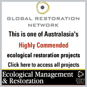 Highly commended ecological restoration project by Global Restoration Network